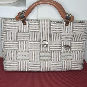 Fermani vintage straw handbag italy